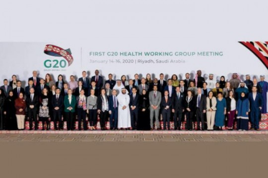 Pertemuan G20 Health Working Group (HWG) Ke-1, 14 -16 Januari 2020 di Riyadh, Arab Saudi