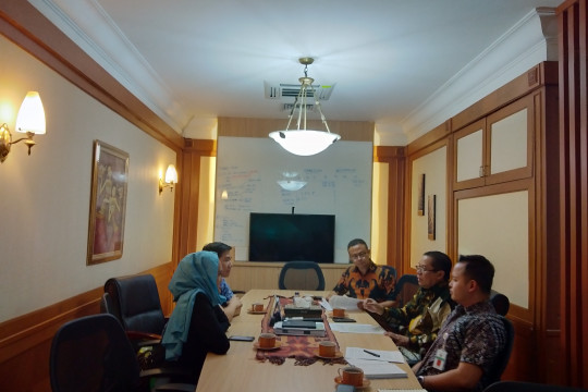 COURTESY CALL Y20 INDONESIA DELEGATION TO THE DEPUTY OF COORDINATION IN INTERNATIONAL ECONOMIC COOPERATION